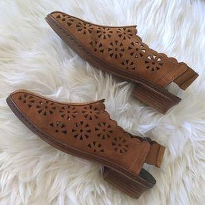 RIEKER - Leather Sling Back Shoe